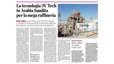 3V Tech's technology used in mega Saudi Arabian oil refinery